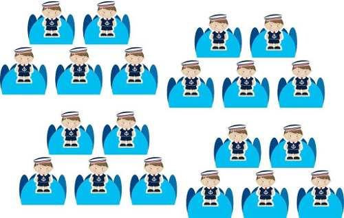 Kit Festa Infantil Menino Marinheiro Azul Claro 143 Peças