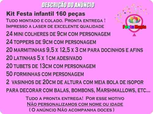 Kit Decorativo De Festa Infantil Raposinha Menino 160 Peças
