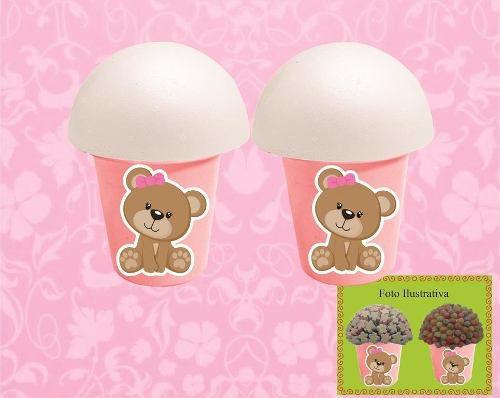 Kit Festa Infantil Ursinha Rosa 160 Peças