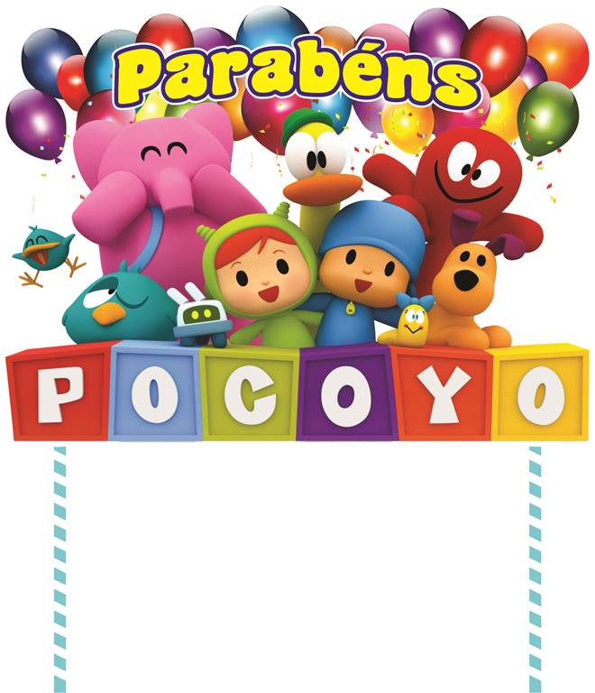 Festa Pocoyo 286 peças (20 pessoas)
