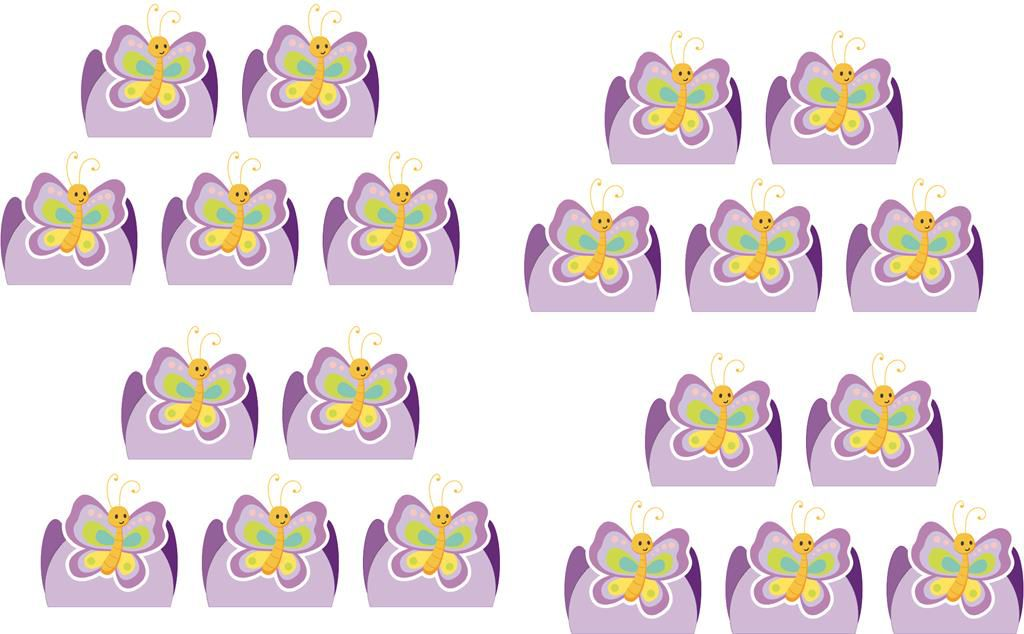 Kit festa Borboleta (lilás) 152 peças