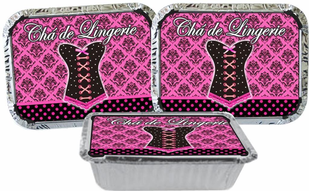 kit festa Chá de Lingerie (Pink e Preto) 160 peças