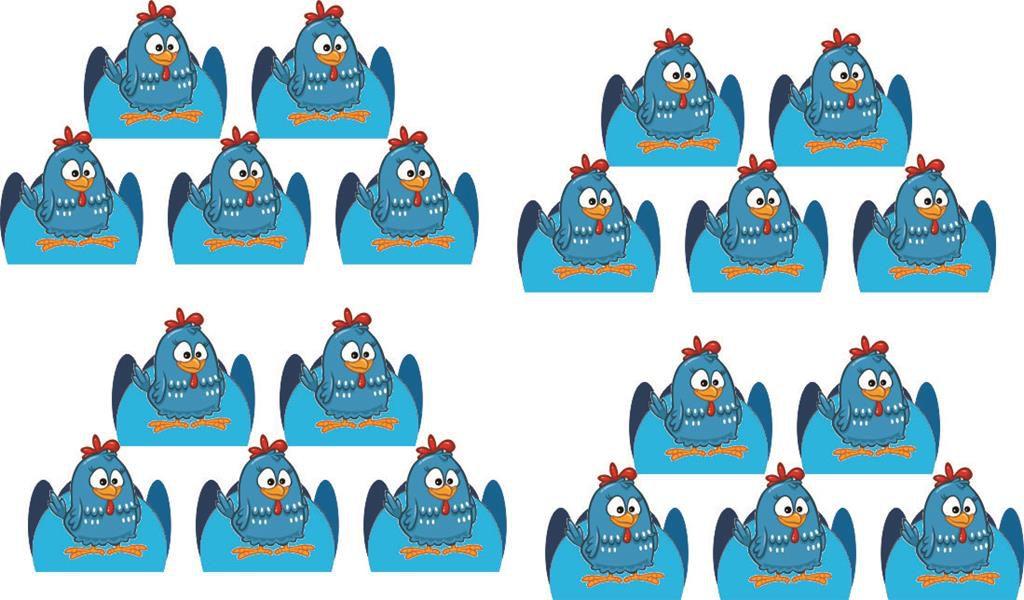 Kit festa galinha Pintadinha Menino 160 peças