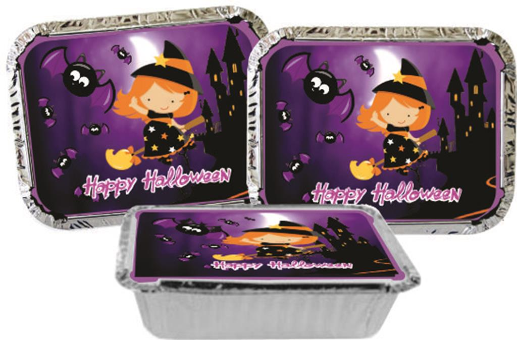 Kit festa Halloween (lilás e preto) 160 peças