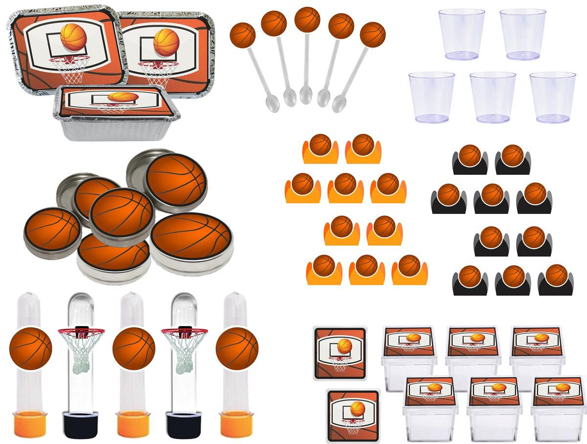 Kit festa infantil Basquete Ball 170 peças