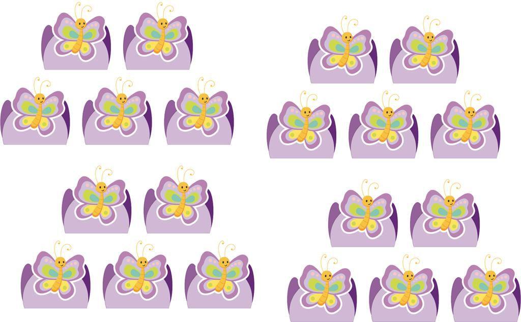 Kit festa infantil Borboleta (lilás) 170 peças