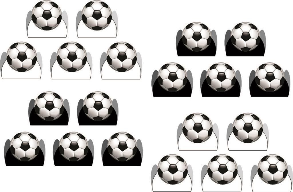 Kit festa infantil Futebol (preto e branco) 173 peças