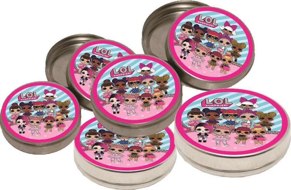 kit festa infantil Lol Surprise (pink e azul claro) 160 peças