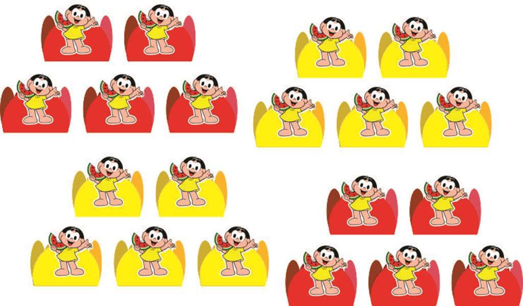 kit festa Infantil Magali 160 peças