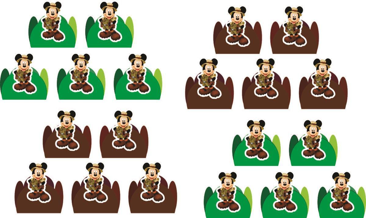 Kit Festa Infantil Mickey Safari 265 Peças