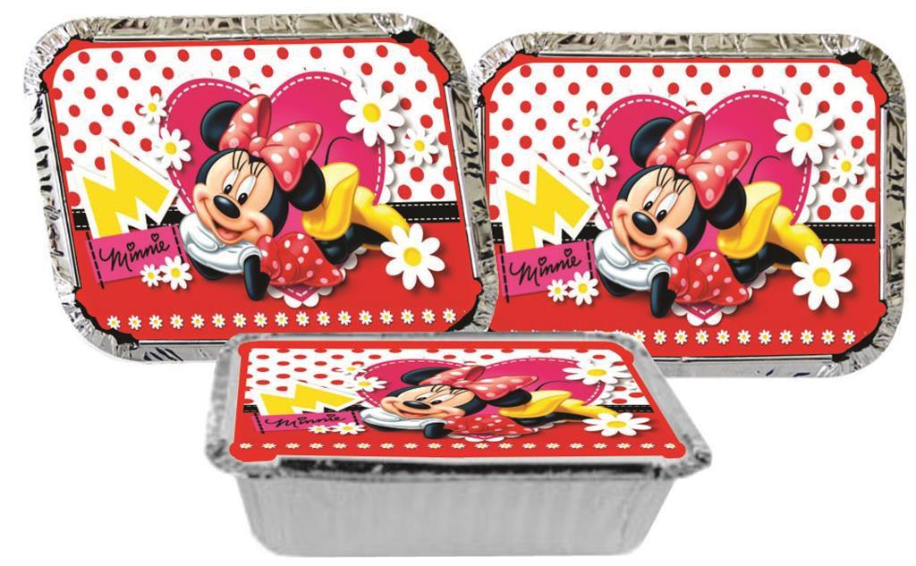 Kit Festa Infantil Minnie Vermelha 160 Peças