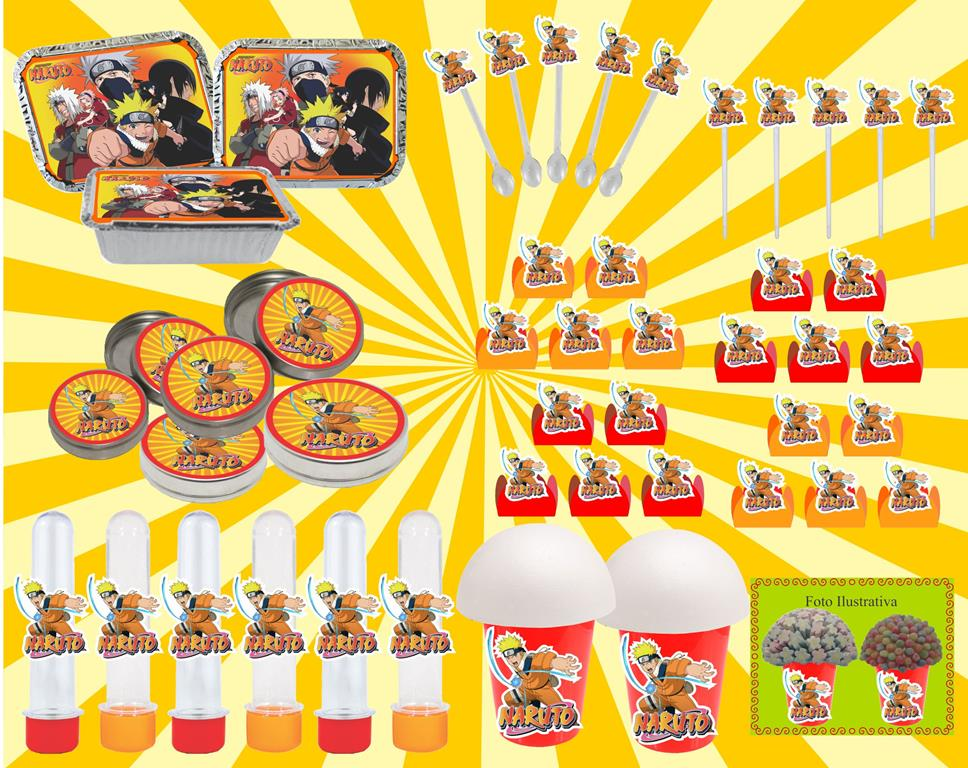 Kit festa infantil Naruto 292 peças