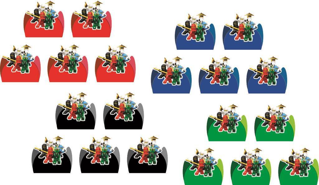 Kit festa infantil Ninja Go 160 peças