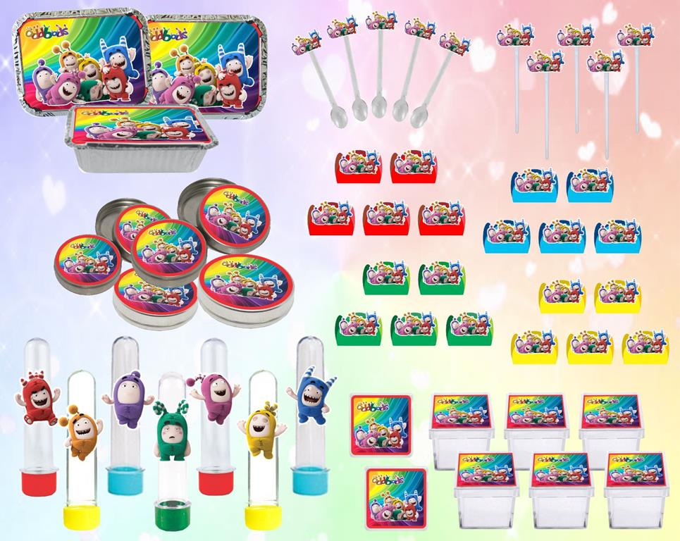Kit festa Infantil Oddbods 178 peças