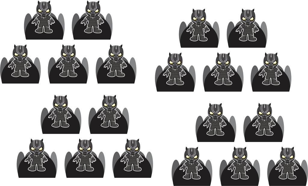 Kit festa infantil Pantera Negra Baby (cute) 155 peças