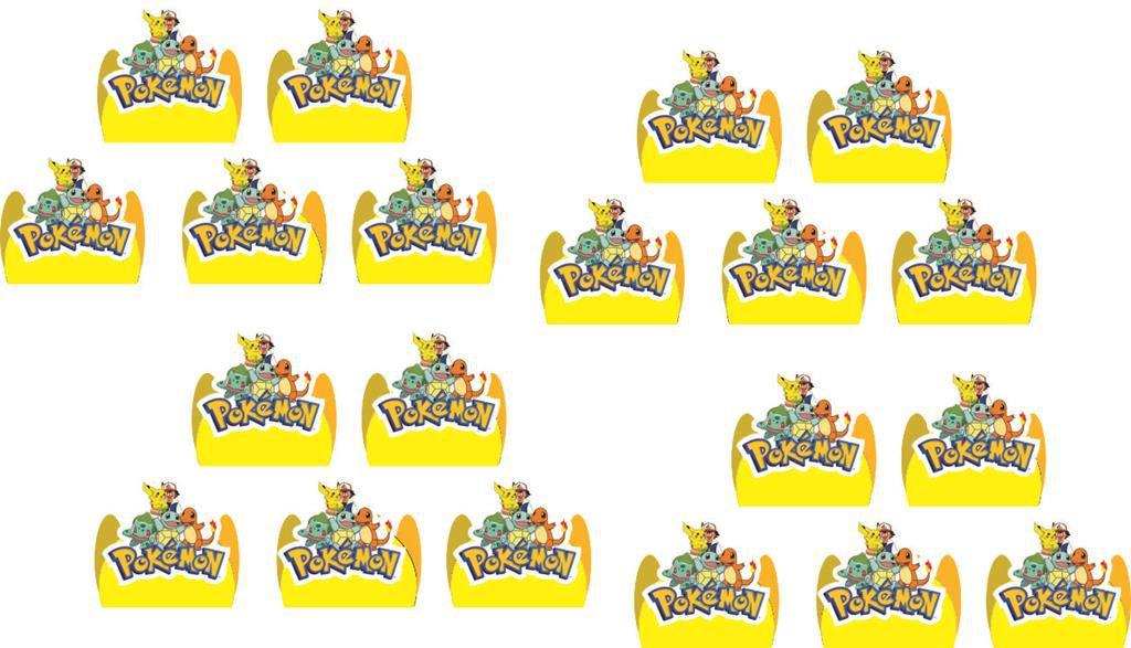Kit festa Infantil Pokemón 160 peças