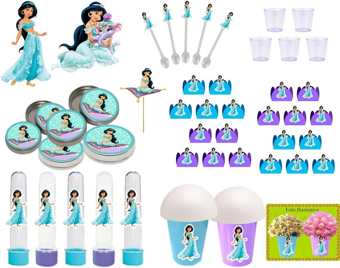 Kit festa Infantil Princesa Jasmine 155 peças