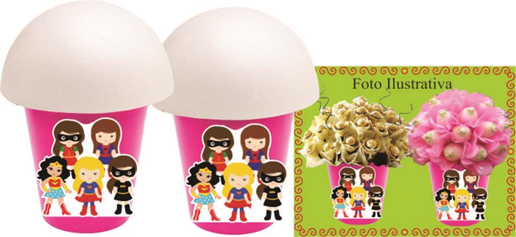 Kit Festa Infantil Super Heroínas 160 Peças
