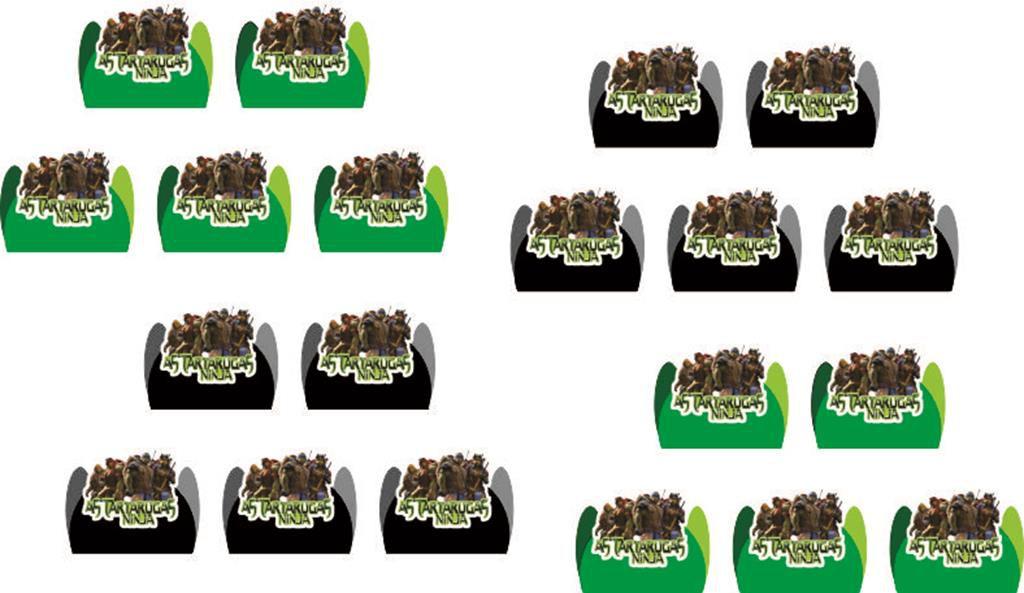 Kit festa infantil Tartarugas Ninja filme 160 peças