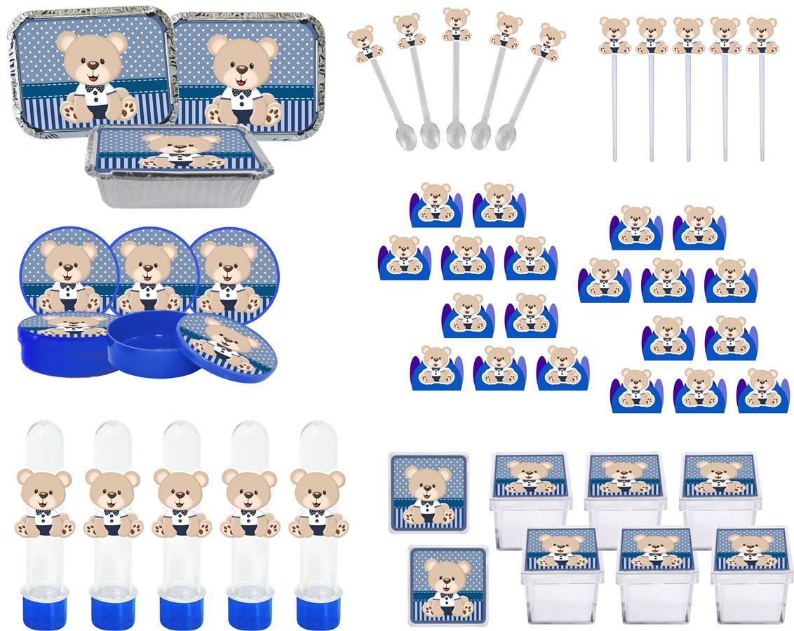 Kit Festa Infantil Ursinho (azul Escuro) 178 Pças