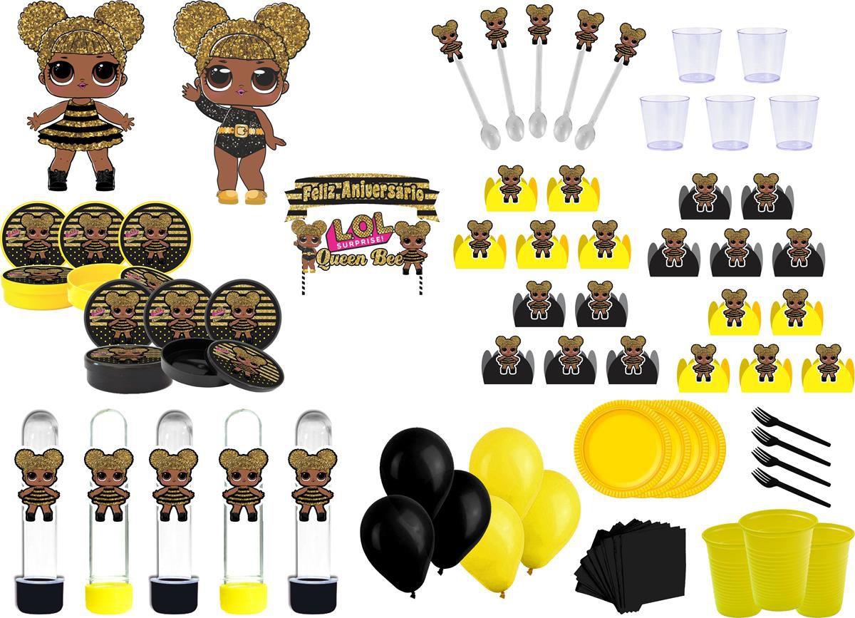 Kit festa Lol Queen Bee 433 peças