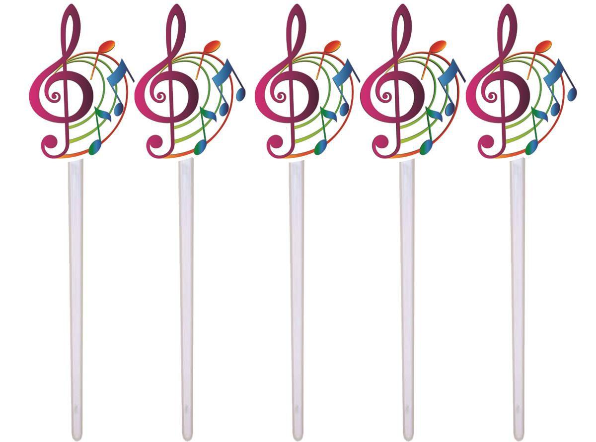 Kit Festa Notas Musicais Coloridas 143 Pecas