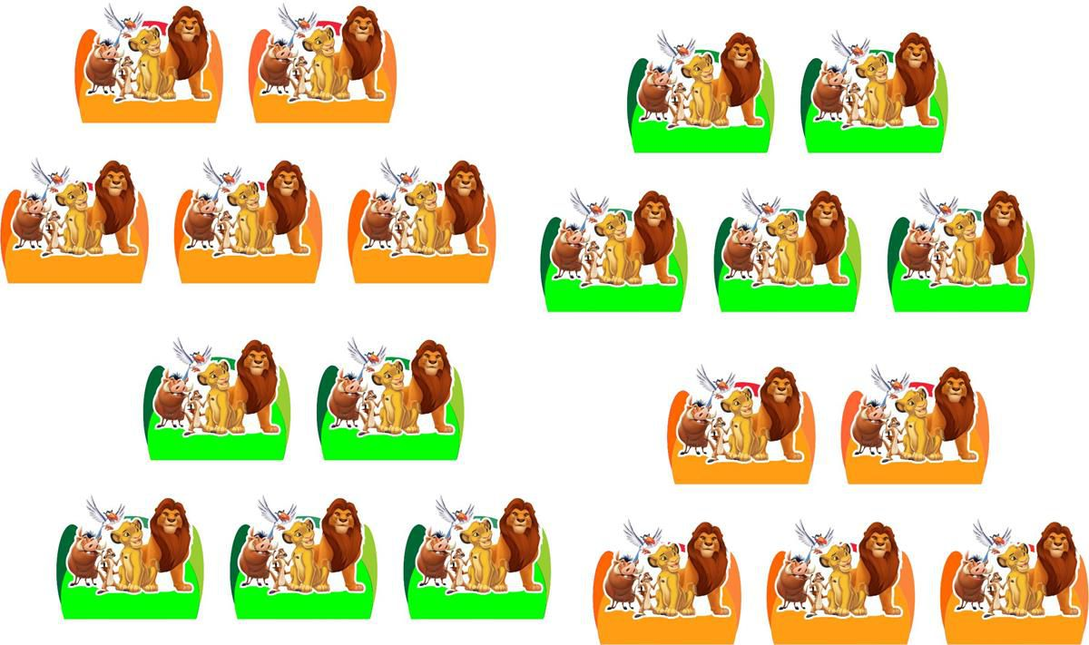 Kit festa O Rei Leão 120 peças