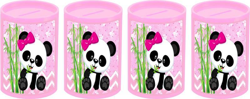 Kit festa Panda menina (rosa) 93 peças