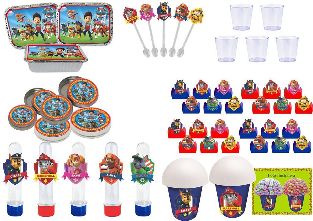 Kit festa Patrulha Canina 152 peças