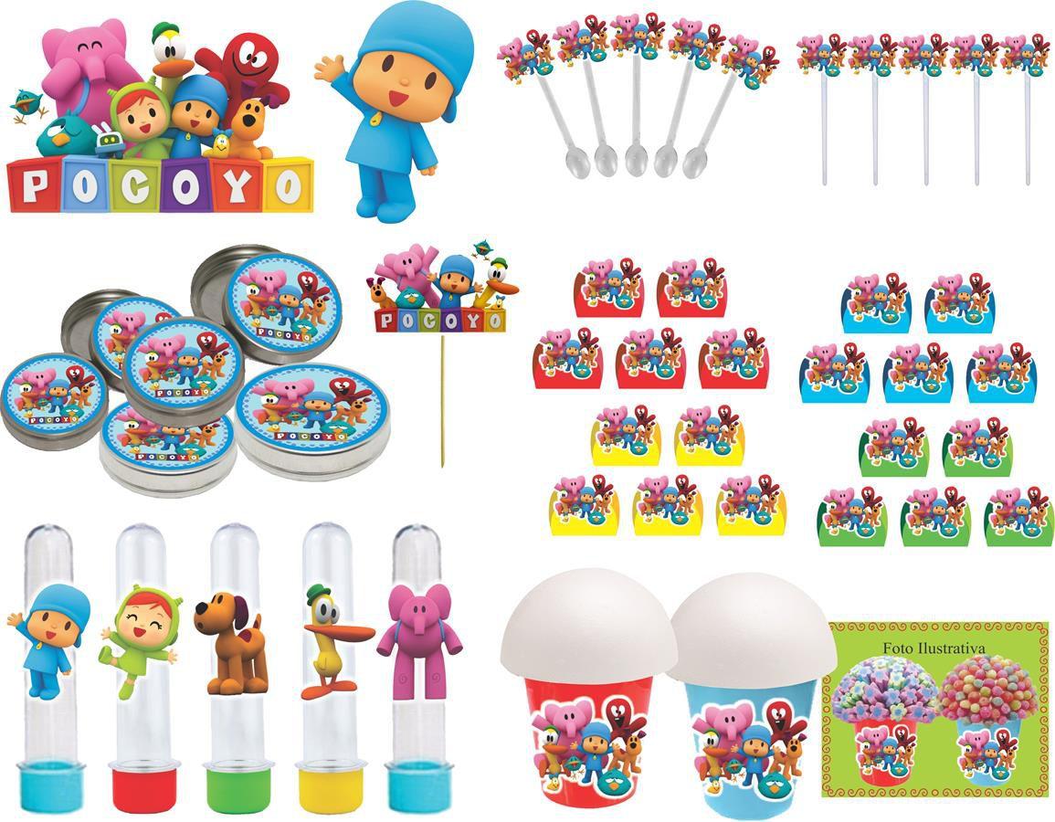 Kit festa Pocoyo 143 (colorido) peças