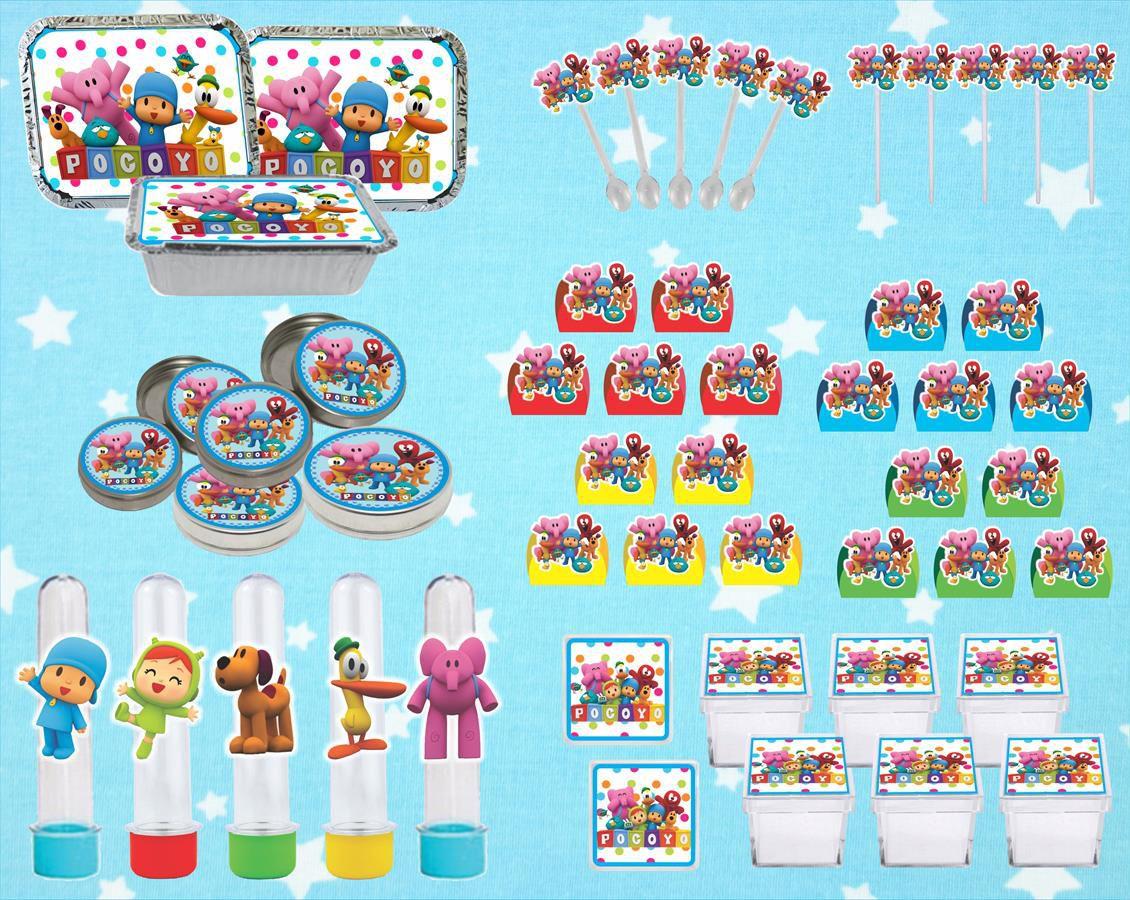 Kit festa Pocoyo (colorido) 178 peças