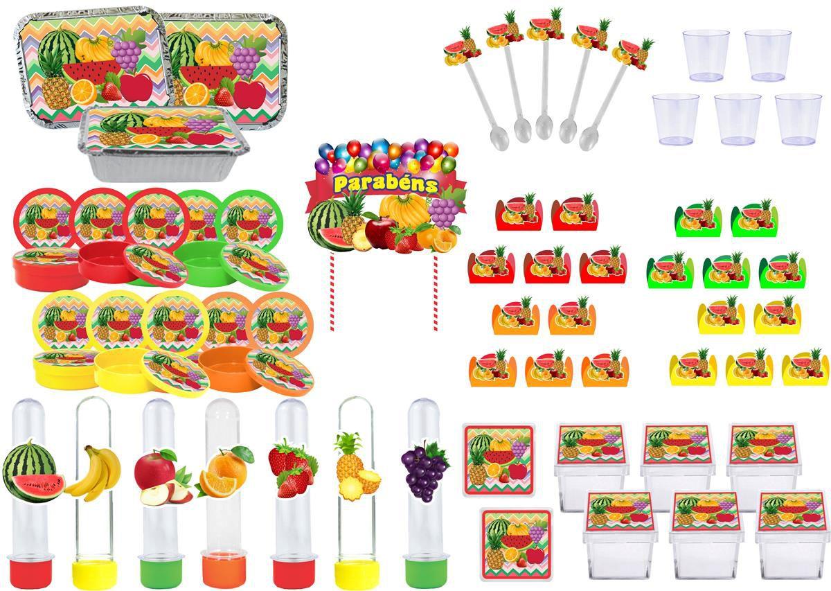 Kit festa Salada de Frutas 111 peças