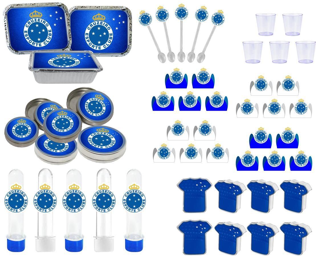 Kit festa Time Cruzeiro 170 peças