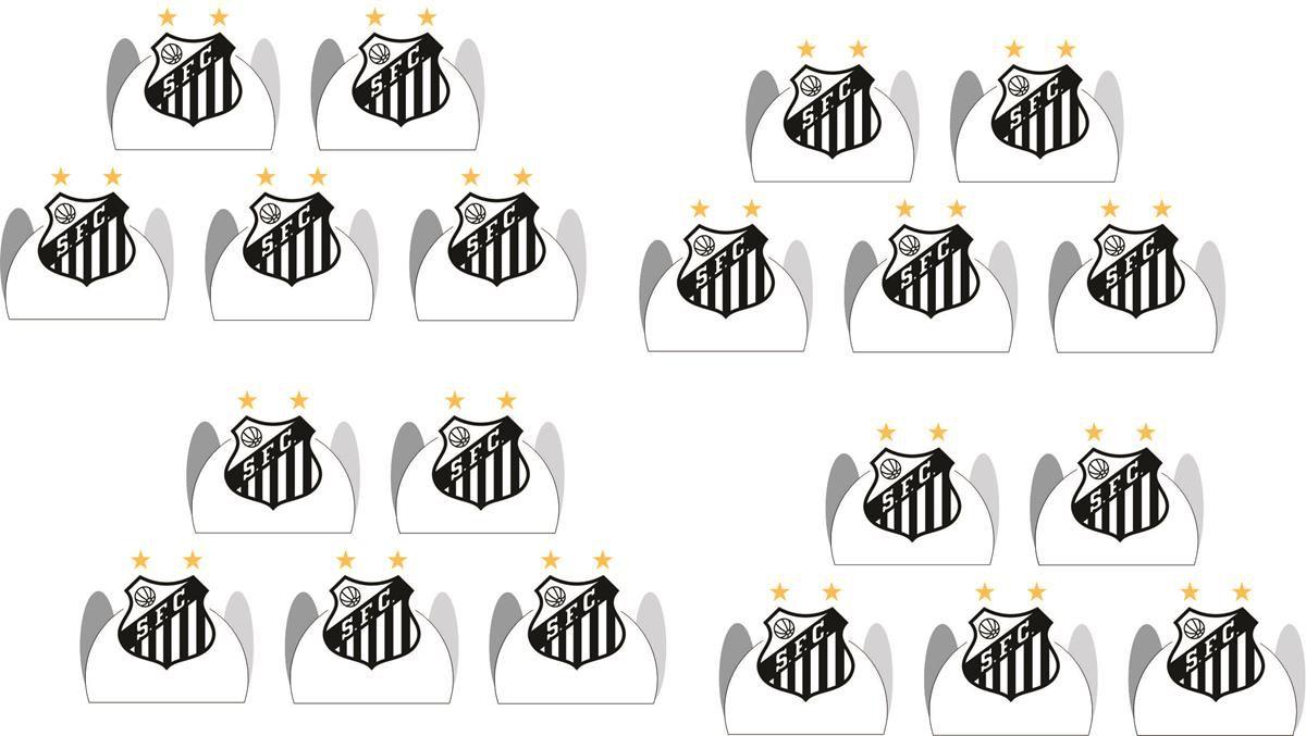 Kit festa Time Santos 170 peças