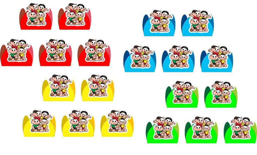 Kit festa Turma do Cebolinha Toy 141 peças