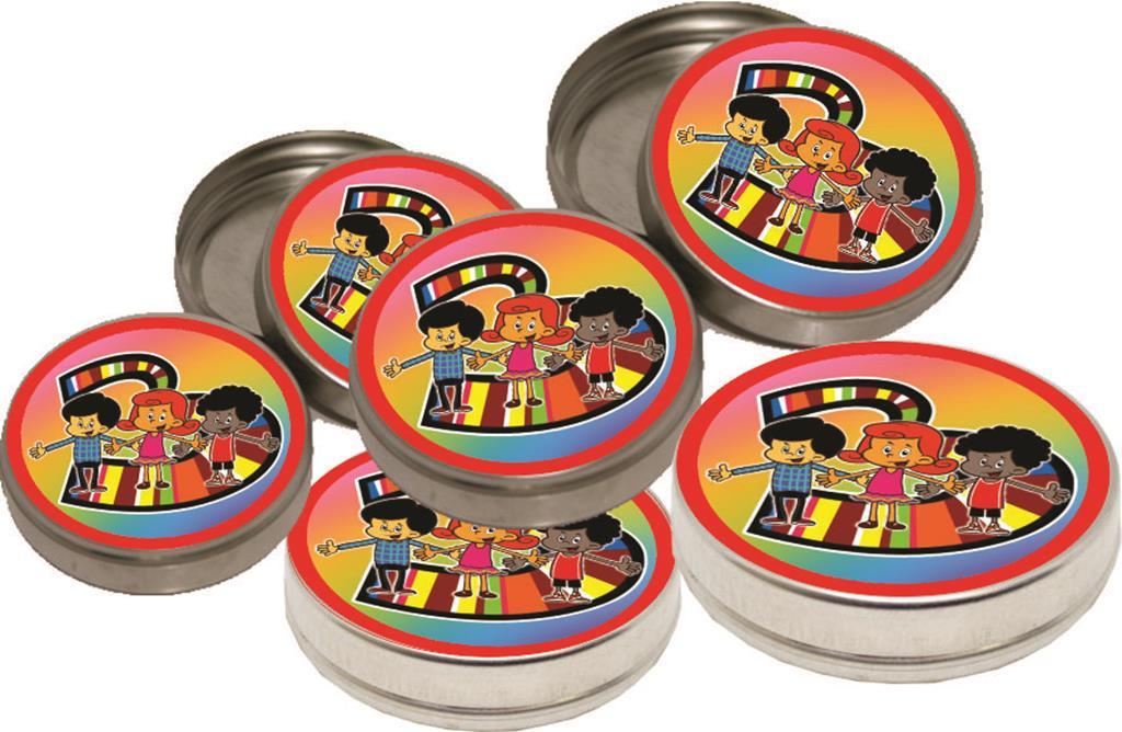Kit marmitinha, latinha, tubete e caixinha 3 Palavrinhas 80 peças