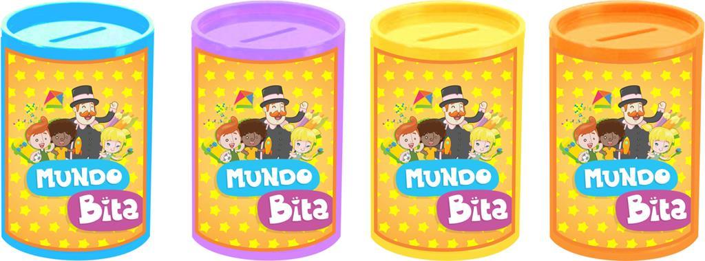 Kit tubete, cofrinho e ioiô Mundo Bita 60 peças