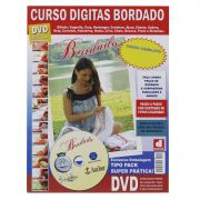 Curso Digitas Bordado DVD + Revista/Curso - Passo a Passo