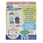 Curso Digitas Corte e Costura  Nível Básico& Moda Infantil - DVD + Revista/Curso - Passo a Passo