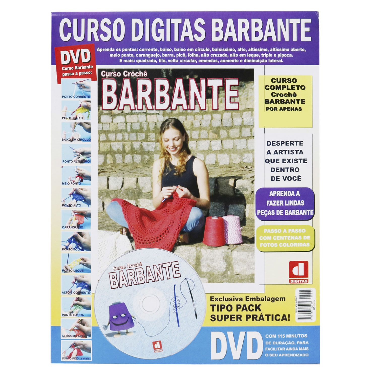 Curso Digitas Barbante- DVD + Revista/Curso - Passo a Passo