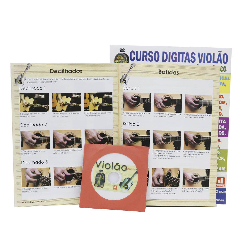 Curso Digitas Violão - Nível Básico - DVD + Revista/Curso - Passo a Passo