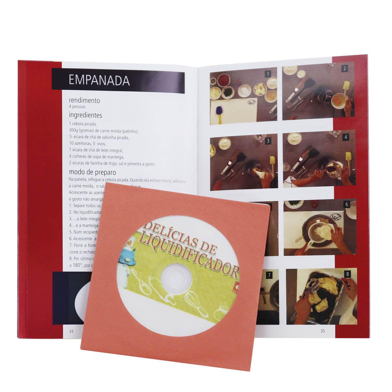 Guia Digitas Culinária Delícias de Liquidificador - Livro + DVD - Passo a Passo