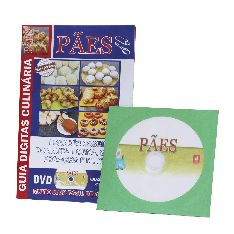 Guia Digitas Culinária Pães - Apostila + DVD - Passo a Passo