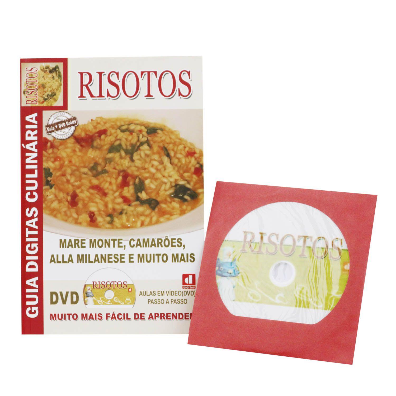 Guia Digitas Culinária Risotos - Livro + DVD - Passo a Passo