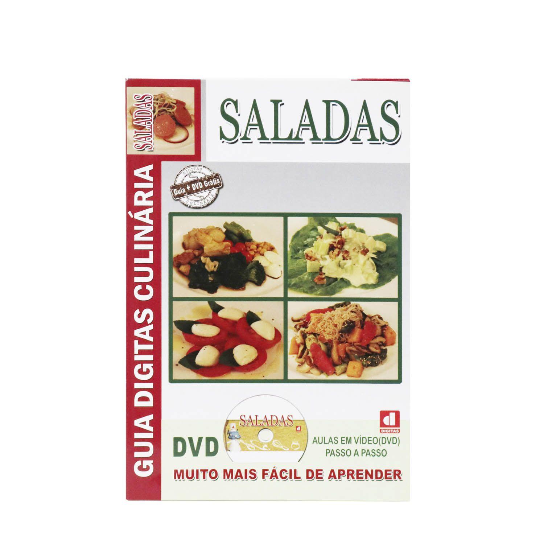 Guia Digitas Culinária Saladas - Livro + DVD - Passo a Passo