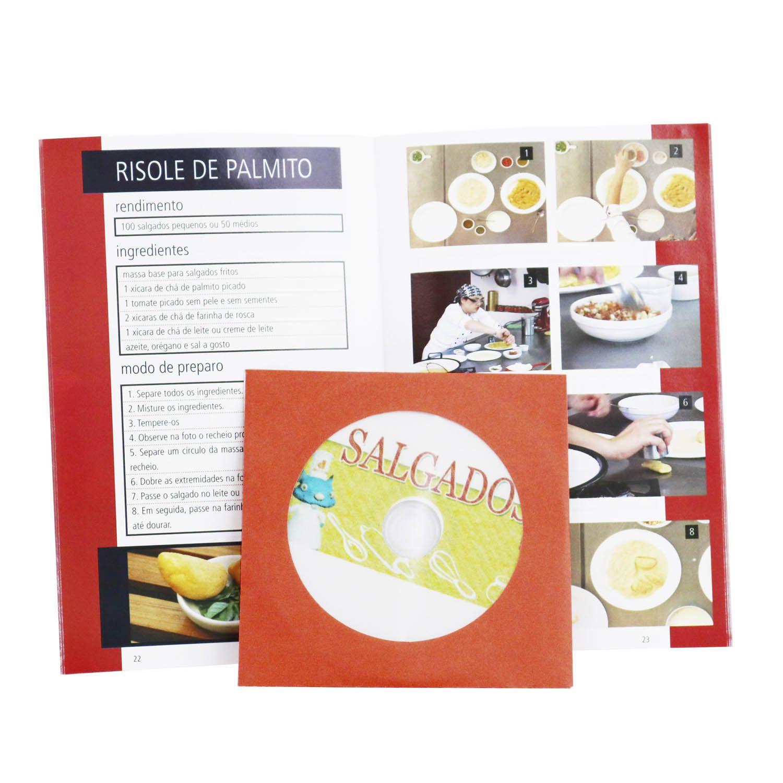 Guia Digitas Culinária Salgados para Festas - Apostila + DVD - Passo a Passo
