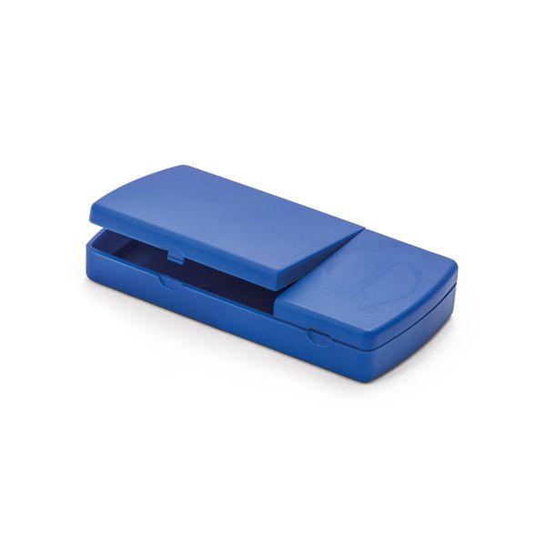 Corta e porta comprimido com 2 divisória extraíveis