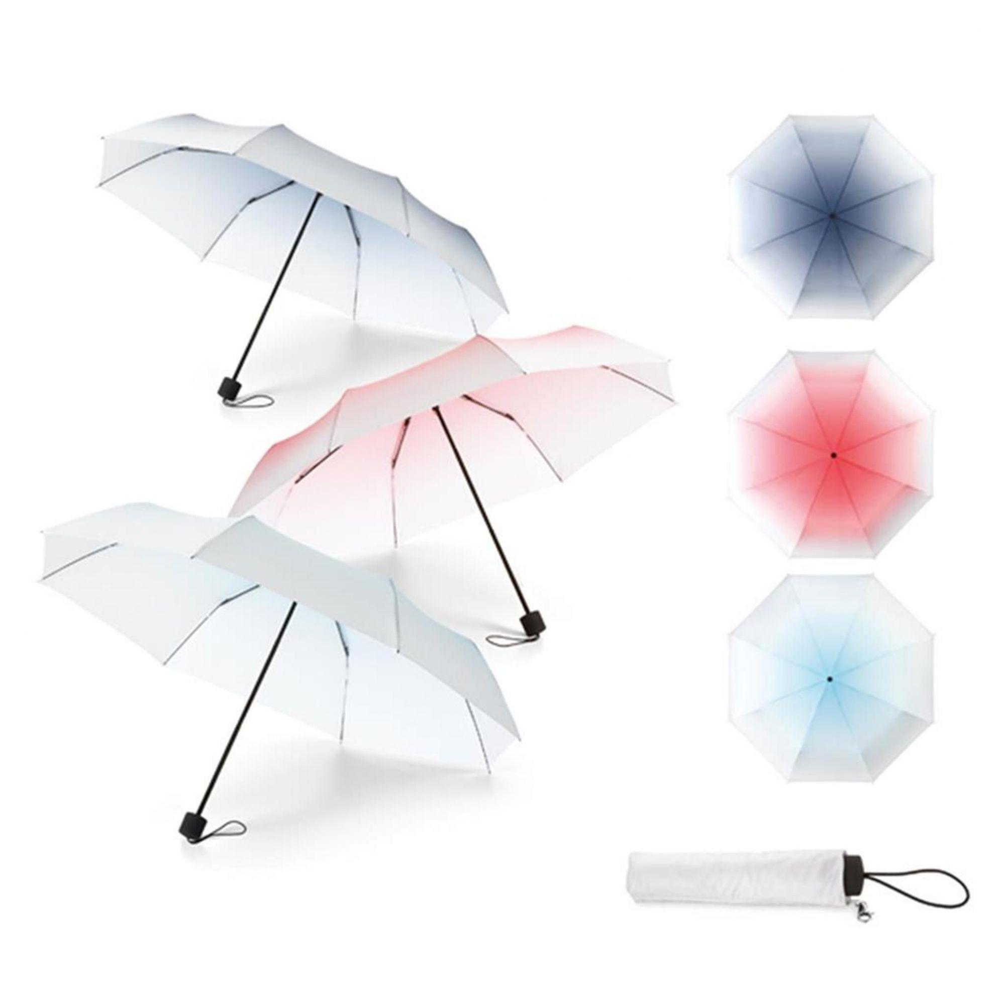 Guarda Chuva Dobravel - Transparente Colorido