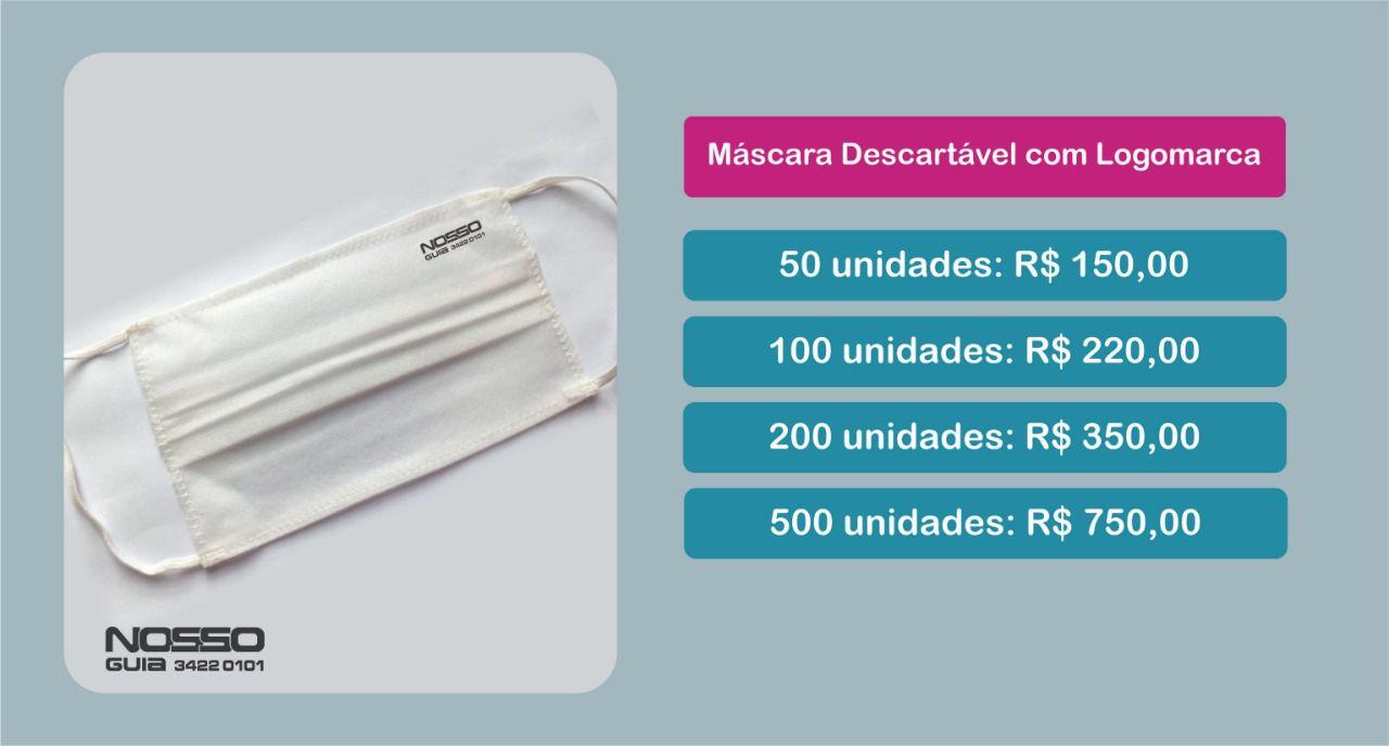 Kit de 50 Máscaras Persolnalizada com sua logo.