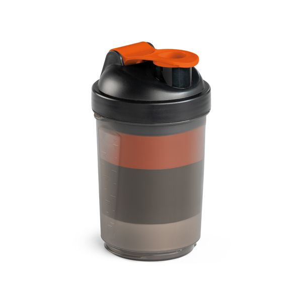 Shaker com 2 compartimentos para suplemento